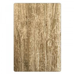 662718 Sizzix Tim Holtz Alterations 3-D Texture Fades Embossing Folder - Lumber